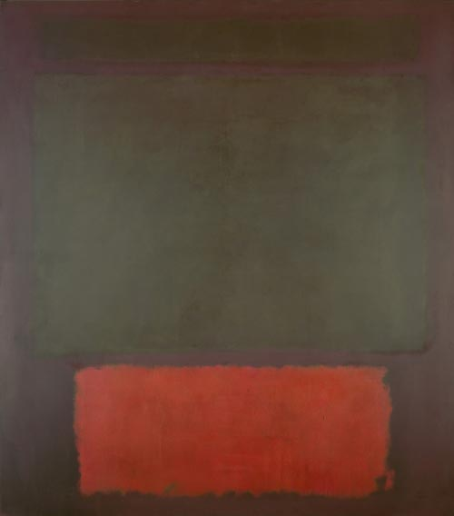 Mark Rothko. <em>No.1,</em> 1961. Oil and acrylic on canvas, 101 7/8 x 89 5/8 inches. National Gallery of Art, Washington DC. Photograph courtesy of the Board of Trustees, National Gallery of Art, Washington DC. Gift of The Mark Rothko Foundation, Inc., 1986.43.151. Copyright © 1998 Christopher Rothko and Kate Rothko Prizel / Artists Rights Society (ARS), New York
