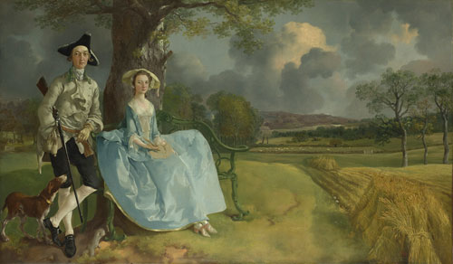 Thomas Gainsborough. Mr and Mrs Andrews, about 1750. ©The National Gallery, London.
