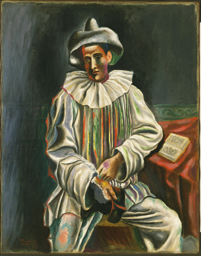 Pablo Picasso. Pierrot, Paris, 1918. Oil on canvas, 36 1/2 × 28 3/4 in (92.7 × 73 cm). The Museum of Modern Art, New York