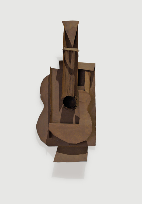 <p>Pablo Picasso. <em>Guitar,</em> Paris, after mid-January 1914. Ferrous sheet metal and wire