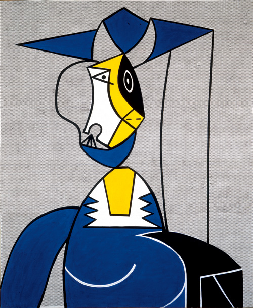 Roy Lichtenstein  (1923-1997). <em>Femme au Chapeau</em>, 1962. Oil and Magna on canvas 68 x 56 in. (172.7 x 142.2 cm). Collection of Martin Z. Margulies. © Estate of Roy Lichtenstein