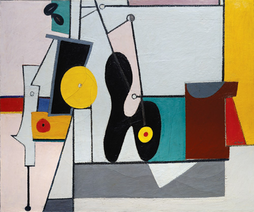 Arshile Gorky  (1904-1948). <em>Organization</em>, 1933-36. Oil on canvas 49 3/4 x 60 in. (126.4 x 152.4 cm). National Gallery of Art, Washington, Ailsa Mellon Bruce Fund 1979.13.3 © 2006 Artists Rights Society (ARS), New York. Image © 2006 Board of Trustees, National Gallery of Art, Washington. Photograph by Lyle Peterzell