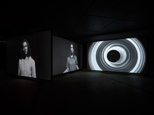 Gail Pickering. Near Real Time, 2014. Installation view (3). Three-channel video installation, sync sound, colour and