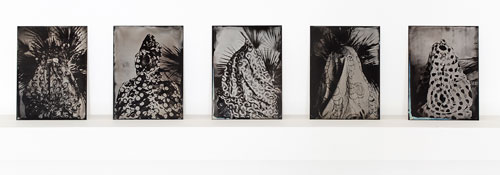 Lucía Pizzani. Impronta Series, 2013. Julia, Annie, Patricia, Paola and Kathiuska. Wet collodion photography on aluminium plates, 13 x 9 cm.