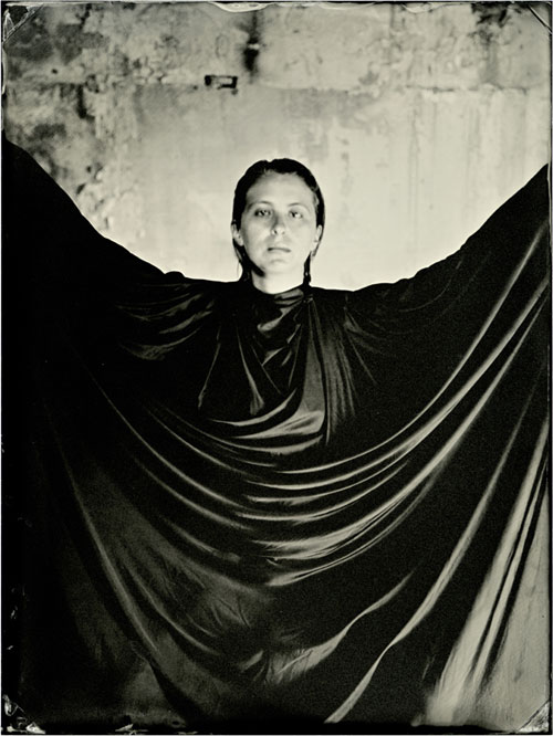 Lucía Pizzani. Impronta Series, Her, 2013. Wet collodion processed photography on cotton paper, 40 x 30 cm.