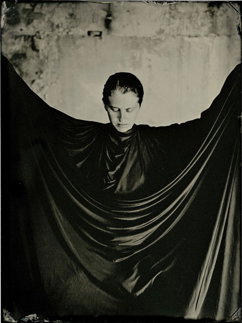 Lucía Pizzani. Impronta Series, Him, 2013. Wet collodion processed photography on cotton paper, 40 x 30 cm.