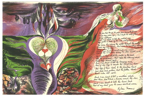 Ceri Richards. <em>The force that through the green fuse drives the flower,</em> 1945. Lithograph for <em>Poetry London</em>. Pallant House Gallery (presented by Mr Angus Hewat)