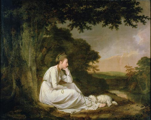 Joseph Wright of Derby, <em>Maria, from Sterne,</em> 1777. Oil on canvas. Private collection