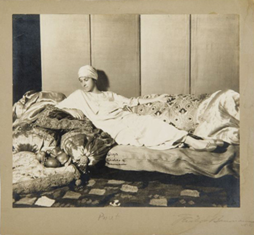 <em>Denise Poiret</em>, 1913. Photograph by Geisler & Baumann. Photograph courtesy of Les Arts Décoratifs, Fonds photographique patrimonial UFAC conservé au Musée de la Mode et du Textile, Paris. Tous droits réservés © 2007 Artists Rights Society (ARS), New York / ADAGP, Paris