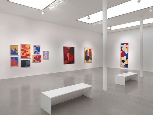 Serge Poliakoff: Silent Paintings. Installation view (2), 14 January – 21 February, Timothy Taylor Gallery.