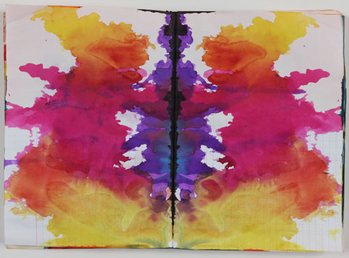 Sigmar Polke. Untitled (Rorschach) (Ohne Titel (Rorschach)), c1999. Coloured ink in bound notebook, 192 pages, each: 11 5⁄8 x 8 1⁄16 in (29.5 x 20.5 cm). Private Collection. Photograph: Alistair Overbruck. © 2014 Estate of Sigmar Polke/ Artists Rights Society (ARS), New York / VG Bild-Kunst, Bonn.