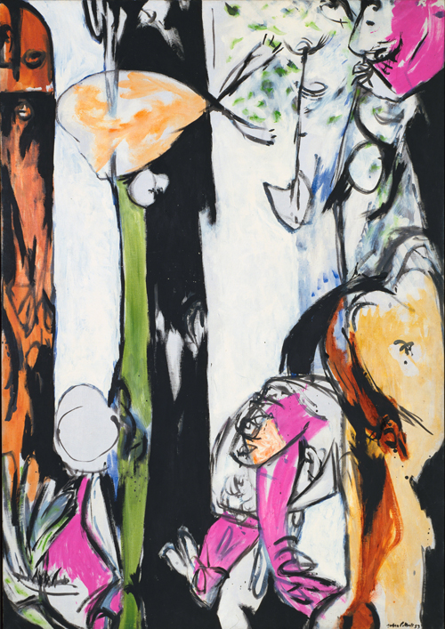 Jackson Pollock. Easter and the Totem. 1953. Oil on canvas, 6 ft 10 1/8 in x 58 in (208.6 x 147.3 cm). The Museum of Modern Art, New York. © 2015 Pollock-Krasner Foundation / Artists Rights Society (ARS), New York.