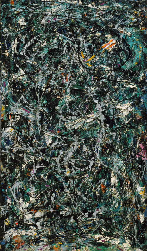 Jackson Pollock. Full Fathom Five, 1947. Oil on canvas with nails, tacks, buttons, key, coins, cigarettes, matches, etc, 50 7/8 x 30 1/8 in (129.2 x 76.5 cm). The Museum of Modern Art, New York. © 2015 Pollock-Krasner Foundation / Artists Rights Society (ARS), New York.