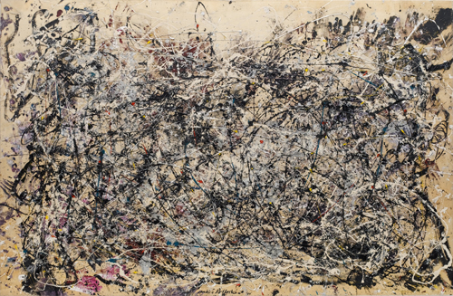 Jackson Pollock. Number 1A, 1948, 1948. Oil and enamel paint on canvas, 68 in x 8 ft 8 in (172.7 x 264.2 cm). The Museum of Modern Art, New York. © 2015 Pollock-Krasner Foundation / Artists Rights Society (ARS), New York.