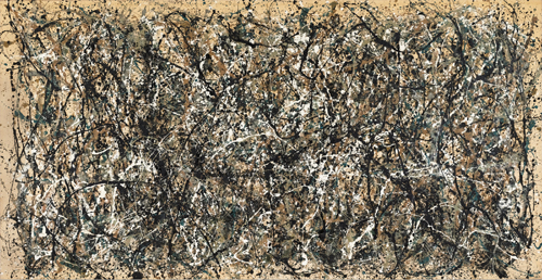 Jackson Pollock. One: Number 31, 1950. 1950. Oil and enamel paint on canvas, 8 ft 10 in x 17 ft 5 5/8 in (269.5 x 530.8 cm). The Museum of Modern Art, New York. Sidney and Harriet Janis Collection Fund (by exchange), 1968. © 2015 Pollock-Krasner Foundation / Artists Rights Society (ARS), New York.