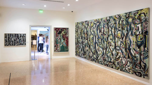 Jackson Pollock's Mural: Energy Made Visible. Installation view, Peggy Guggenheim Collection, Venice. Photograph: Matteo De Fina.