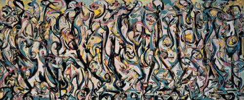 Jackson Pollock. Mural, 1943. Oil and casein on canvas, 242.9 x 603.9 cm. Gift of Peggy Guggenheim, 1959. University of Iowa Museum of Art. Reproduced with permission from The University of Iowa.