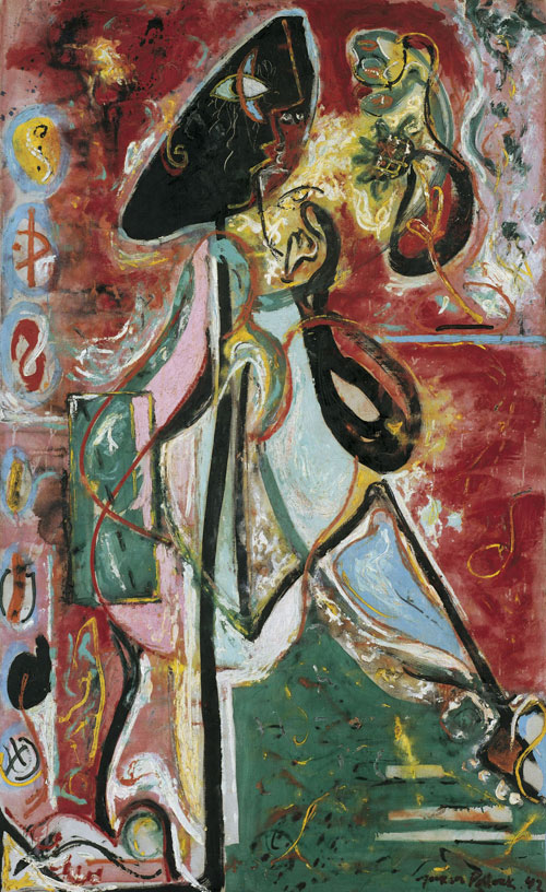 Jackson Pollock. The Moon Woman, 1942. Oil on canvas, 175.2 x 109.3 cm. Peggy Guggenheim Collection, Venice. © Jackson Pollock, by SIAE 2015.