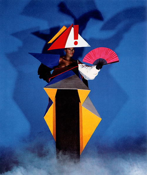 <p>Jean-Paul Goude and Antonio Lopez. <em>Maternity dress for Grace Jones,</em> 1979. © Jean-Paul Goude.