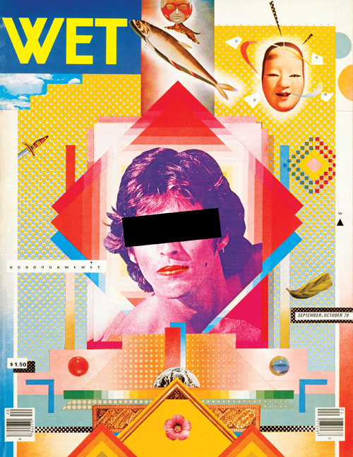 <p>Design by April Greiman in collaboration with Jayme Odgers. <em>Wet: The Magazine of Gourmet Bathing no.20,</em> Sept/Nov 1979 religion issue edited by Leonard Koren.