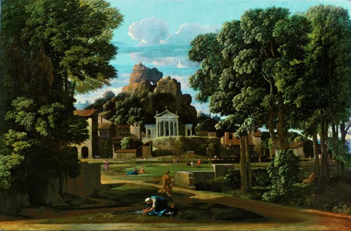 Nicolas Poussin (1594–1665). <em>Landscape with Ashes of Phocian.</em><strong></strong> Liverpool, Walker Art Gallery