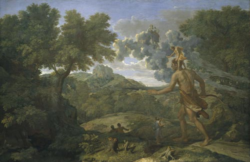 Nicolas Poussin (1594–1665). <em>Blind Orion Searching for the Rising Sun,</em><strong> </strong>1658. Oil on canvas, 46 7/8 x 72 in. (119.1 x 182.9 cm). NY, MMA, Fletcher Fund, 1924 (24.45.1)