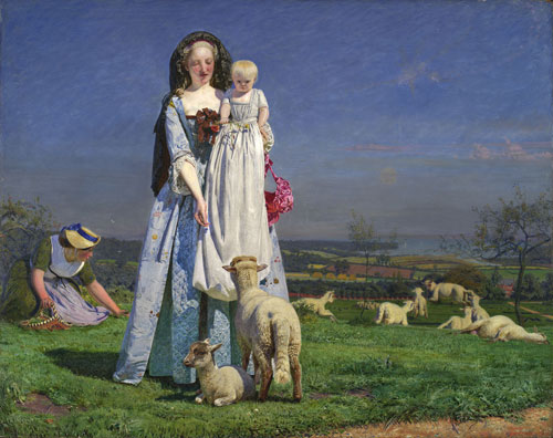 Ford Madox Brown. The Pretty Baa-Lambs, 1851-9. Birmingham Museums and Art Gallery, purchased 1956.
