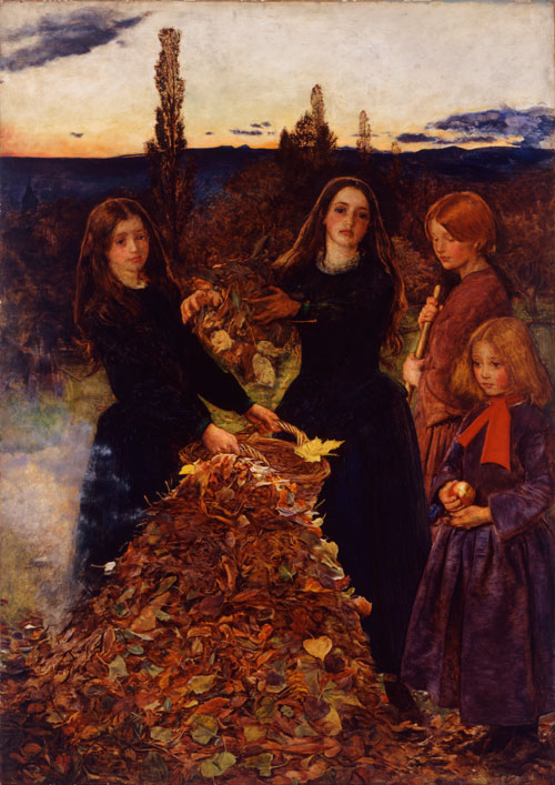 John Everett Millais. Autumn Leaves, 1855-6. Manchester City Galleries.