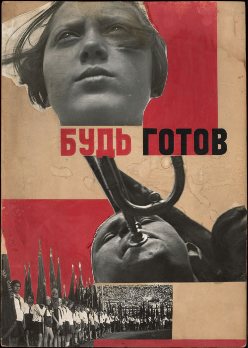 Varvara Stepanova. Photomontage 'Beready!' 1932. Using photographs by A Rodchenko. Courtesy of a Private Collection.