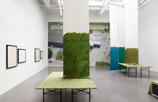 Stephen Prina, galesburg illinois+ (installation view 4), Petzel Gallery, 2016. Courtesy of the artist and Petzel, New York.