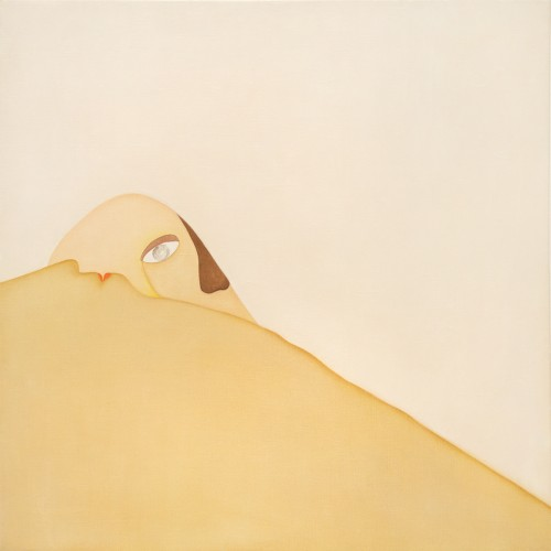 Huguette Caland. Sunrise, 1973. Oil on linen, 39 ½ x 39 ½ in. Courtesy of the artist and Lombard Freid Gallery, New York.