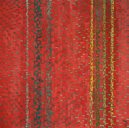 Alma Thomas. Carnival of Autumn Leaves, 1973. Oil on canvas, 50 x 50 in. Michael Rosenfeld Gallery LLC, New York.