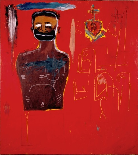Jean-Michel Basquiat. Untitled (Cadmium), 1984. Oil, oilstick, and acrylic on canvas, 66 x 60 in. The High Museum of Art, Atlanta. © The Estate of Jean-Michel Basquiat / ADAGP, Paris / ARS, New York 2014.
