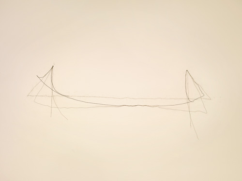 Richard Tuttle. 31st Wire Piece, 1972. Florist wire, nails, and graphite, dimensions variable. Artwork from the collection of the artist © 2015 Richard Tuttle, courtesy Pace Gallery. Photograph © 2015 Alise O'Brien Photography.