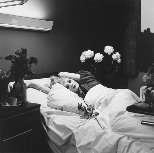 Peter Hujar. <em>Candy Darling on Her Deathbead, </em>1974. Silver gelatin print. Courtesy of Mathew Marks Gallery, New York. © The Peter Hujar Archive.