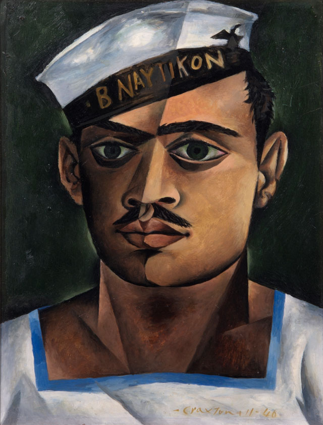 John Craxton. Head of a Greek Sailor, 1940. Oil on board, 33 x 30.5 cm. London Borough of Camden. © Estate of John Craxton. All rights reserved, DACS 2016. Photograph: London Borough of Camden.