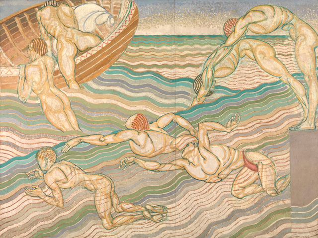 Duncan Grant. Bathing, 1911. Oil paint on canvas, 228.6 x 306.1 cm. © Tate