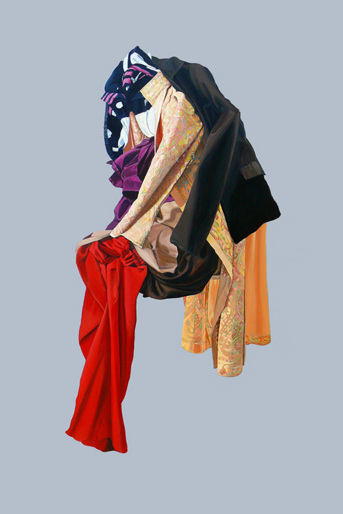 Saba Qizilbash. Weight, 2012. Acrylic on canvas, 150 x 100 cm.