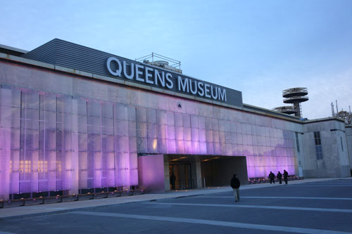 The Queens Museum has a new name and a new life. Formerly the Queens Museum of Art, it reopened its doors to the public on 9 November. Photograph: Miguel Benavides.