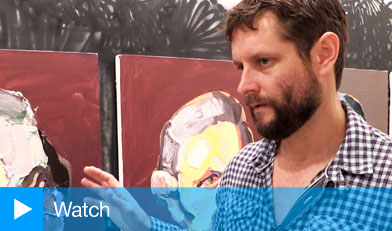 Ben Quilty, winner of the Prudential Eye Award, 2014 at the Saatchi Gallery, 4 July 2014.