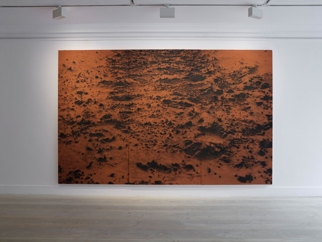 Saad Qureshi: time | memory | landscape, installation view, Gazelli Art House, London, 2017. Photograph: Peter Mallet. Courtesy Gazelli Art House.