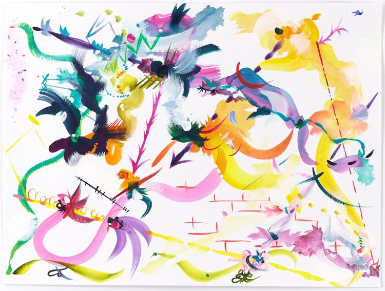 Fiona Rae, Abstract 20 (Drawing). Gouache and watercolour on paper, 42 x 56 cm. © Fiona Rae RA.