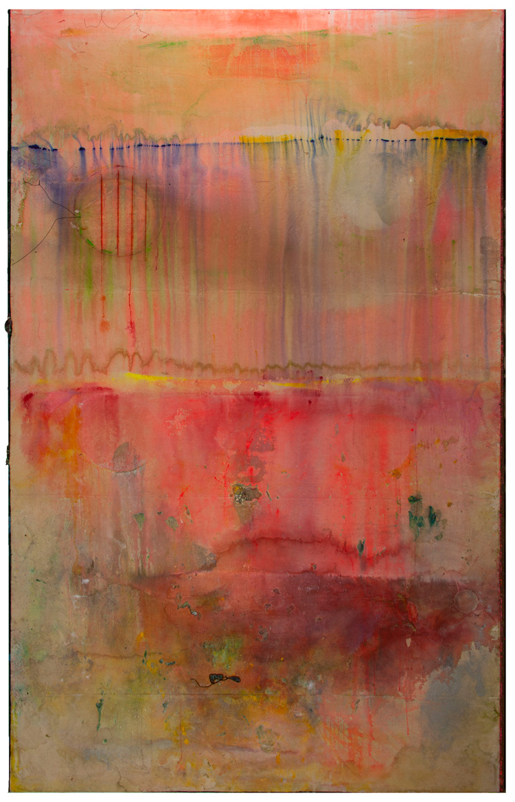 Frank Bowling, Watermelon Bight. Acrylic on canvas, 297.2 x 185.4 cm. © Frank Bowling. All Rights Reserved, DACS 2020.