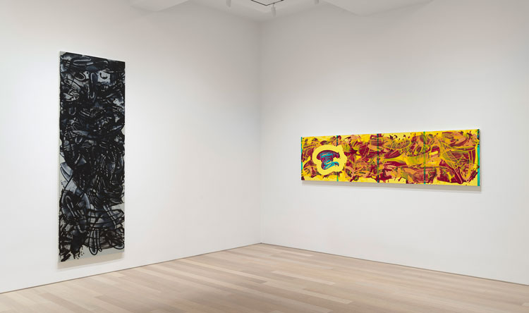 David Reed: New Paintings, 2019, installation view. Artwork © 2020 David Reed/Artists Rights Society (ARS), New York. Photo: Rob McKeever. Courtesy Gagosian.