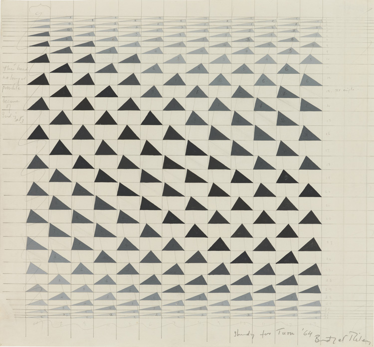 Bridget Riley. Study for 'Turn', 1964. © Bridget Riley 2019. All rights reserved.