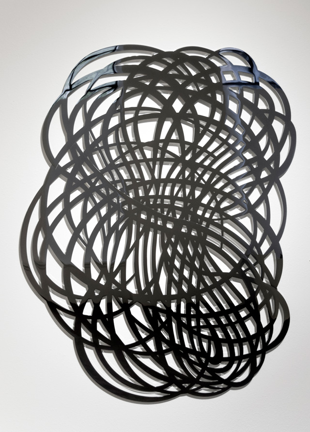 Linda Fleming, Gossamer. Chromed steel, 86 x 71 x 1 in. Image courtesy Robischon Gallery.