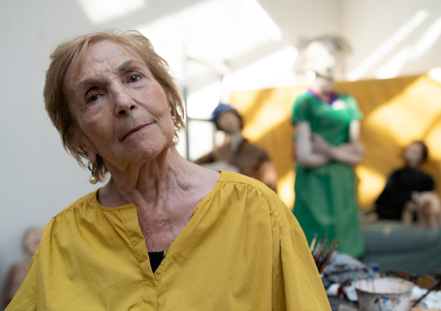 Paula Rego in her studio © Nick Willing.
