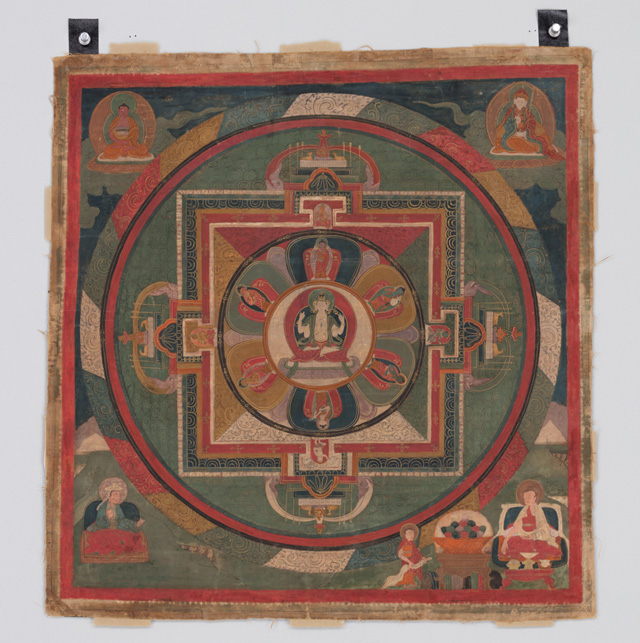 Mandala of Four-Armed Avalokiteshvara, Tibet, 18th century. Pigments on cloth. Rubin Museum of Art; gift of Shelley and Donald Rubin.