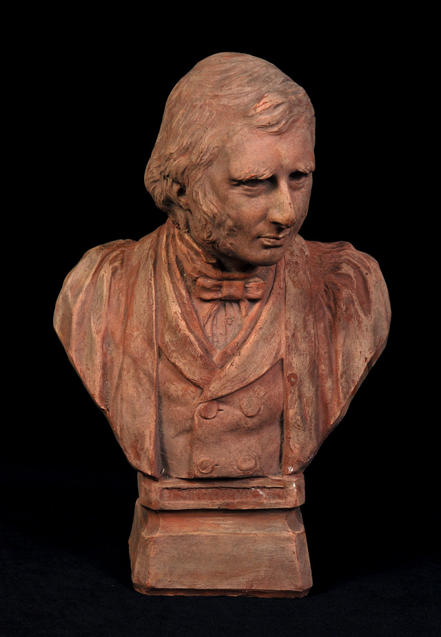 Benjamin Creswick. Portrait Bust of Ruskin, 1887. Terracotta. © Collection of the Guild of St George / Museums Sheffield.