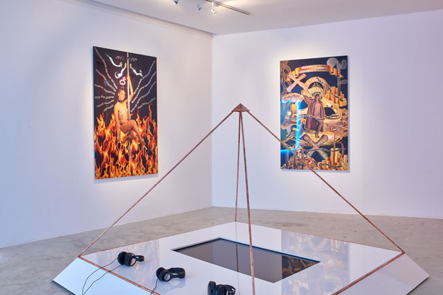 Tabita Rezaire. Hoetep Blessings installation view, 2016. Installation and HD video, 12 min 30 sec. © the artist.